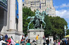 Theodore Roosevelt statue outside Natural History Museum, Manhattan. 14 Oct 2007