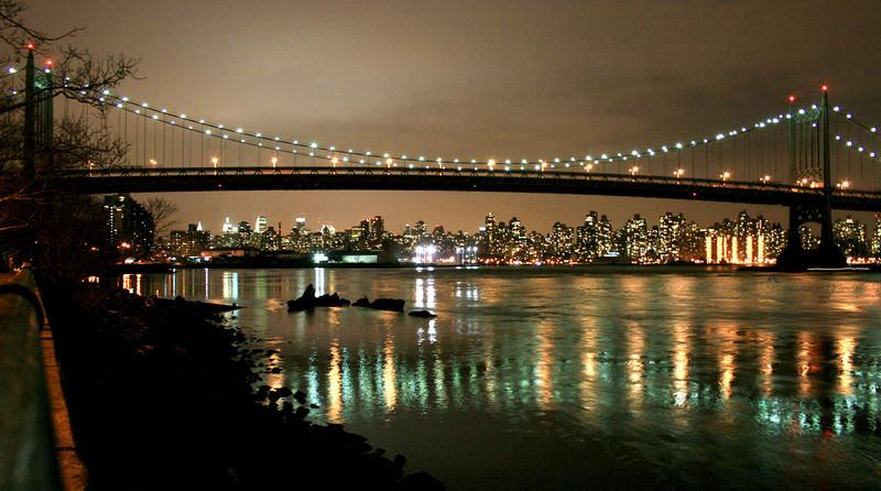 Triborough Bridge and Manhattan from Astoria Park, Queens, 31 Mar 2008